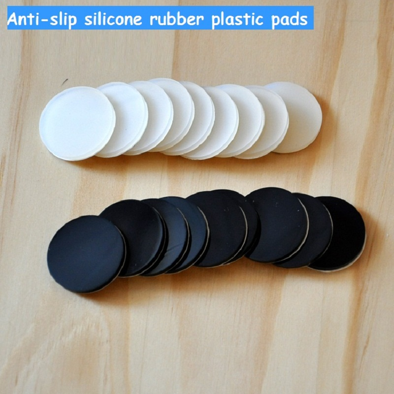 30mm Anti-slip silicone dash-proof rubber plastic furniture feet pads 3M self adhesive non-slip mat for furniture shock-proof