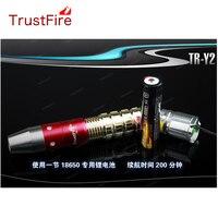 TrustFire tr-y2 лампы XR-E желтый свет Светодиодные фонарики Открытый для идентификации Джейд + 1x18650 аккумулятор + зарядное устройство + 1 xGift Box