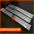 Hot sale! FREE SHIPPING For 2012 2013 2014 OPEL MOKKA VAUXHALL MOKKA STAINLESS DOOR SILL PLATE ENTRY SCUFF COVER
