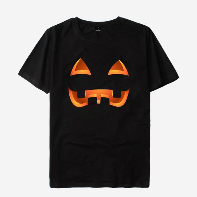 Plus Size Halloween Print Women T Shirt Cotton Short Sleeve Female Tops Tee Funny Pumpkin T-Shirt Femme Harajuku Tshirt Hipster