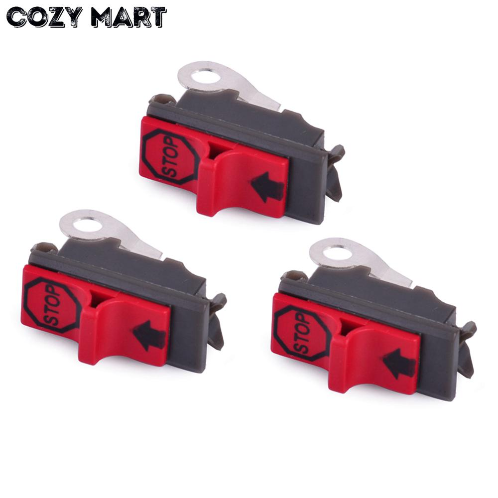 3pcs On-off Stop Switch For HUS 36 41 50 51 55 61 66 136 141 254 257 266 268 272 288 394 395 Chainsaw Parts 503 71 79-01