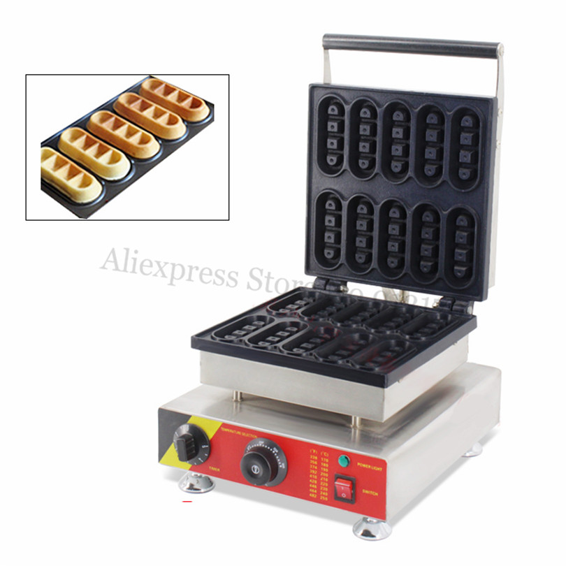 Bar-type Waffle Machine Commercial Mini Waffle Baker Maker with Timer and Temperature Controller 220V 110V economic and elegance waffle maker machine baker doulbe head electric churros with bar shaped and popsicle