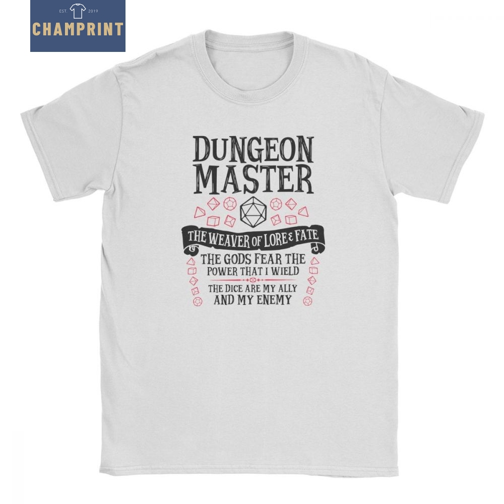 Dungeon Master The Weaver Of Lore & Fate Men T Shirts Dungeons And Dragons DnD Vintage 100% Cotton Tees Round Neck T-Shirt Tops