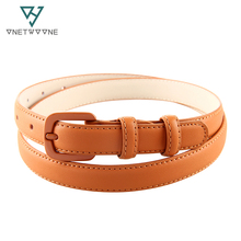 Classic Luxury Designer Genuine Leather Slim Belt For Girls Students Womans Cowskin Hole Straps Real Thin Belts