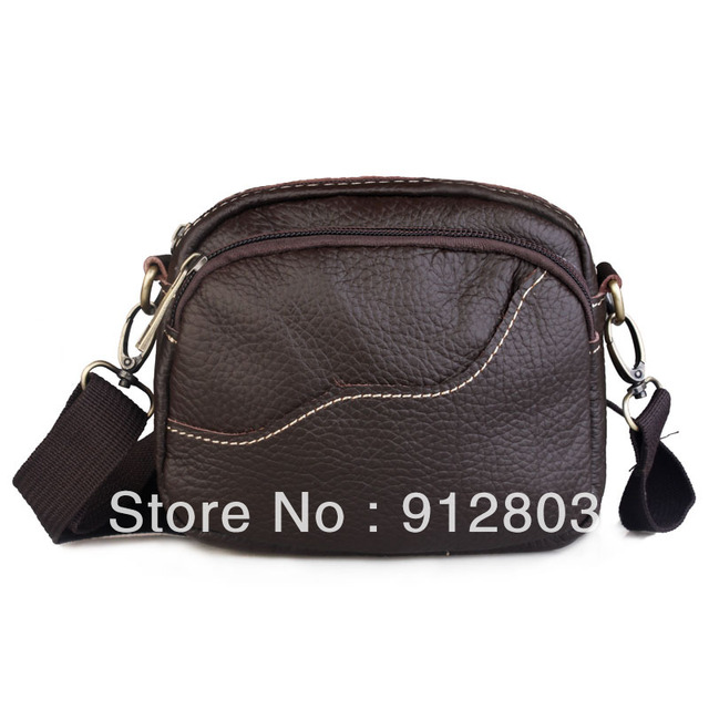 [ANYTME] PROMOTION Wholesale - Male Shoulder Messenger Casual Genuine Leather Man Multifunctional Waist Pack Bag - Free Shipping