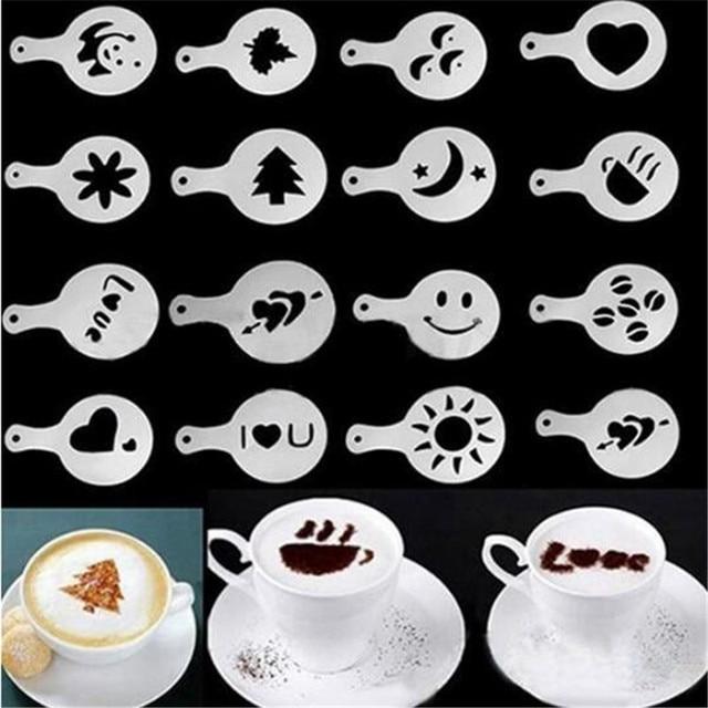 16 pz Modelli Cappuccino Caffè Latte FAI DA TE Strumento di ...