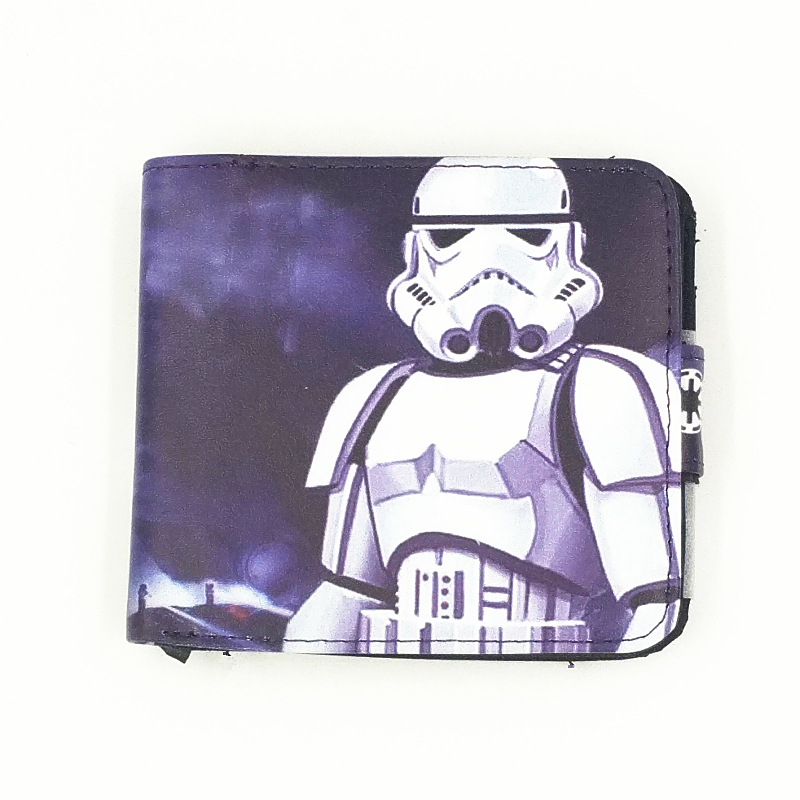 Marvel And Star Wars Wallets White Trooper Men Wallets Comic Lost Stars Portfolio Rogue One Movie Zip Cion Purse