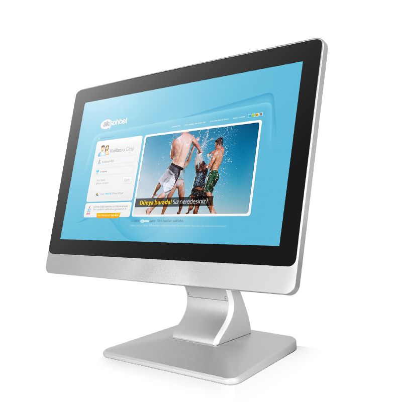Wall Mount Metal Frame 10.1 Inch Full Hd 1080p Industrial Rs232 Computer All In One