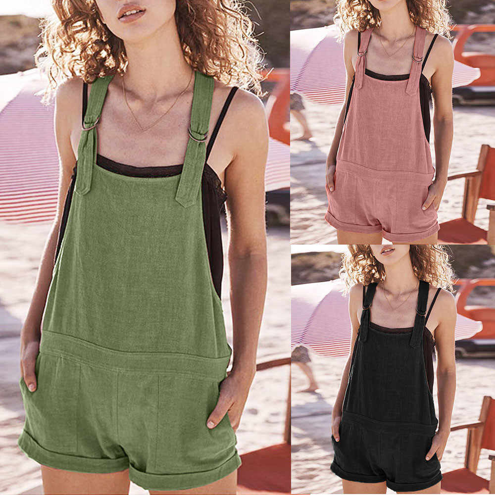 f10419beb0 Telotuny Maternity Clothing Women Casual Solid Adjustable Cotton Pockets  Rompers Playsuit Shorts Pants JU 21