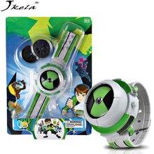 [Jkela] Новый Лидер продаж бен земля defender проектор часы действия Рисунок игрушка в подарок для детей слайд-шоу