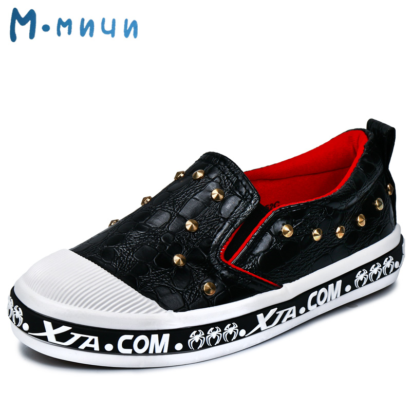 MMNUN 2017 New Spring Studded Girls Shoes Breathable Pu Leather Kids Shoes for Little Girl Boys Children Sneakers Children Shoes