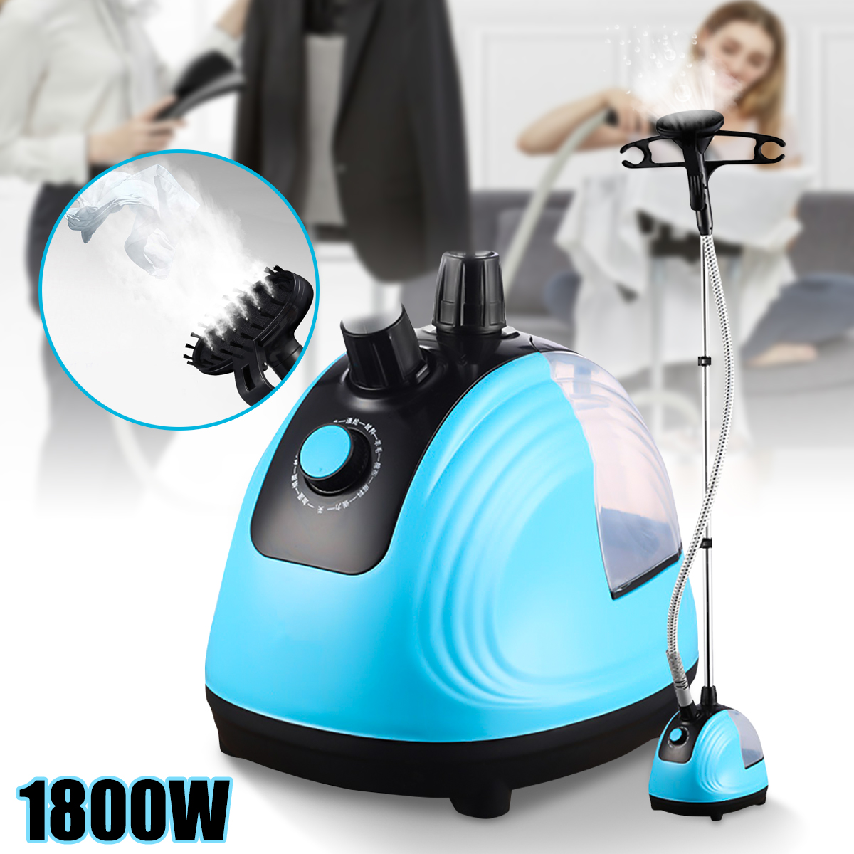1800W HandHeld Garment Steamer Adjustable Household Clothes Iron Steamer 220V Hanging Ironing Machine Mini Ironer Steamer russia only 2000w garment steamer household handheld ironing machine 10 gear adjustable vertical flat steam iron clothes steamer