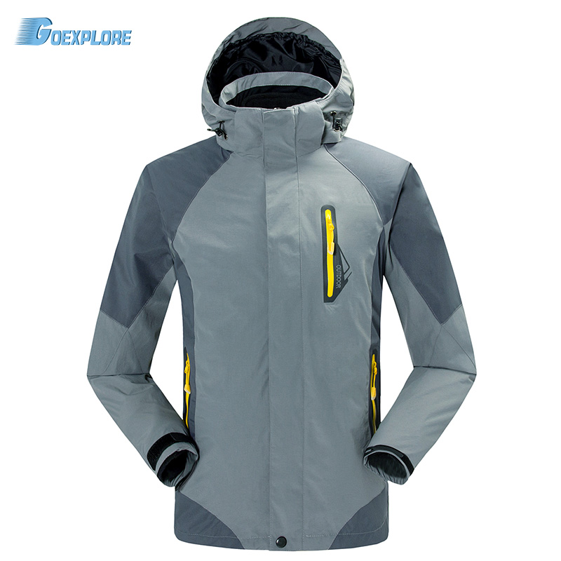 ФОТО Dropshipping new winter ski snow classic jackets 2 layer outdoor windproof waterproof famous Windbreaker jacket for mens