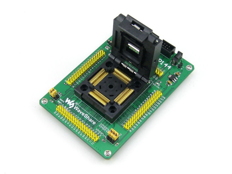 STM32-QFP144 Yamaichi IC Test Socket Programming Adapter For QFP144 LQFP144 0.5mm STM32F10xZ STM32L1xxZ STM32F2xxZ STM32F4xxZ