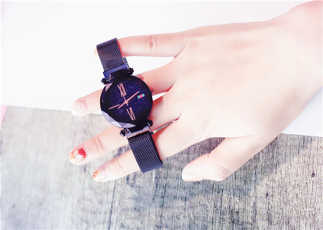 Charming Purple Women Watches Minimalism Casual Starry Sky Lady Wristwatch Magnet buckle Fashion Luxury Brand Female Watch Gift 12