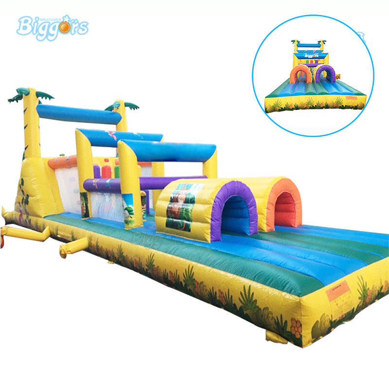 Factory Price PVC Commercial Inflatable obstacle course Bounce House with blowers цена