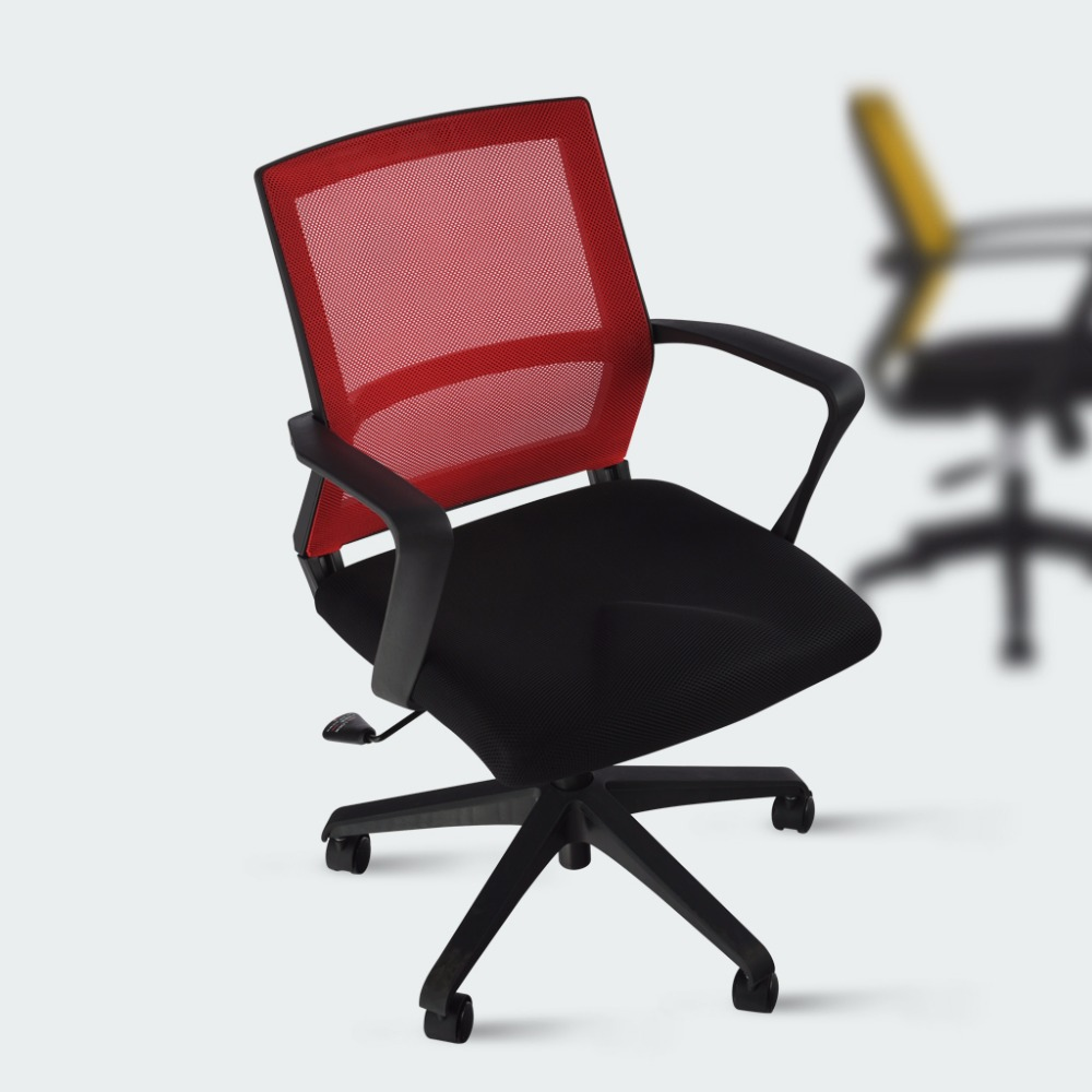 au in stock langria mid back red mesh swivel task chair office chair