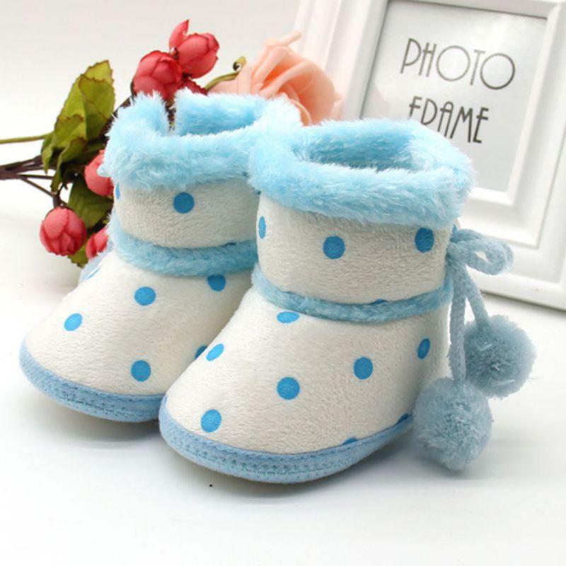 Babyschuhe Winterstiefel Weiche Unterseite Baby Mädchen Mokassin - Babyschuhe - Foto 2