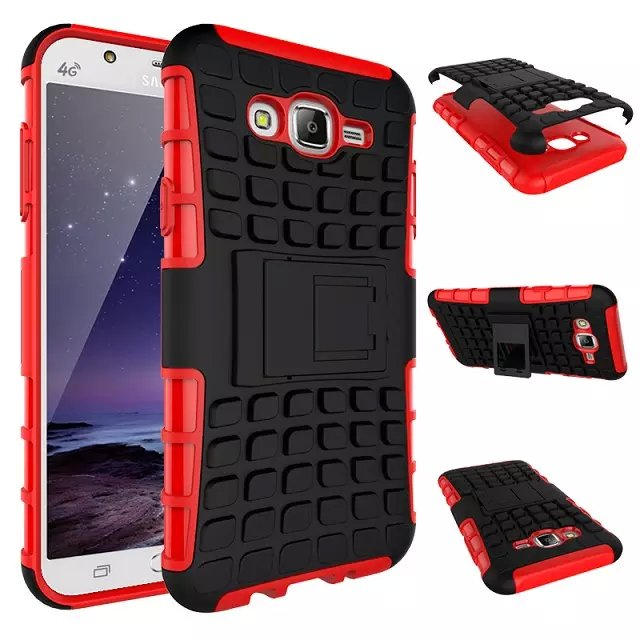 Samsung Galaxy J7 J700 Case Hybrid Kickstand Rugged Rubber Armor Hard PC+TPU 2 1 Stand Function Cover Cases - alina store