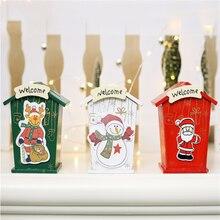 חדש חג המולד מיני ממתקי פח קופסא תכשיטי מטבעות אחסון מתנות Cartoon פיגי בנק אריזת מתנה קופסות אחסון פחיות
