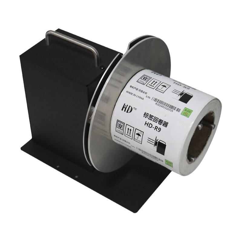 220mm Automatique réenrouleur bar code tags Deux-façon rembobinage machine avec régulateur de Vitesse