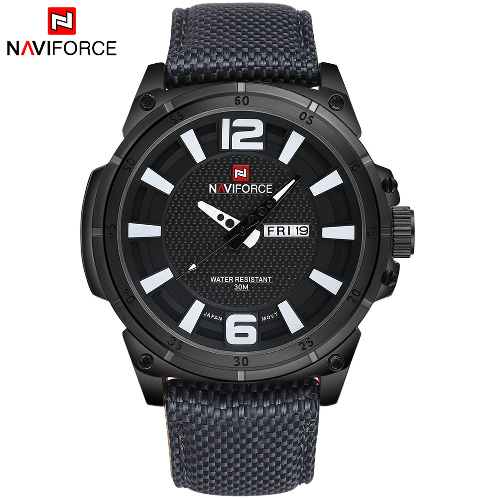 TOP NAVIFORCE Luxury Brand Men's Quartz Date Casual Watch Men Army Military Sports Watches Male Leather Clock Relogio Masculino luxury brand men s quartz date week display casual watch men army military sports watches male leather clock relogio masculino