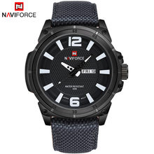 TOP NAVIFORCE Luxury Brand Men's Quartz Date Casual Watch Men Army Military Sports Watches Male Leather Clock Relogio Masculino(China)