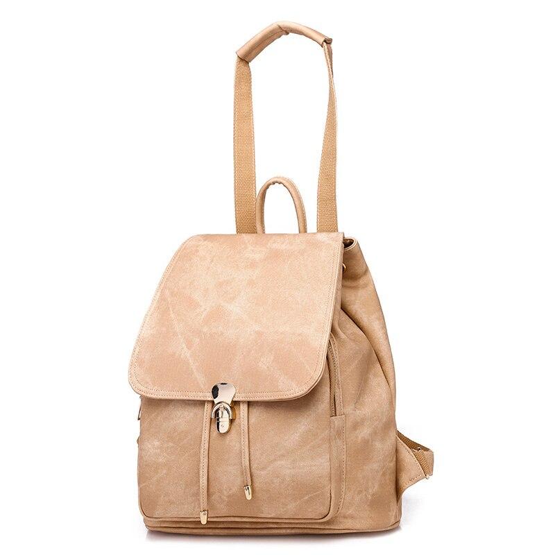 2Pcs Set Bag Women Leather Backpack School Backpacks For Teenage Girls Female Rucksack Bolsas Mochilas Black