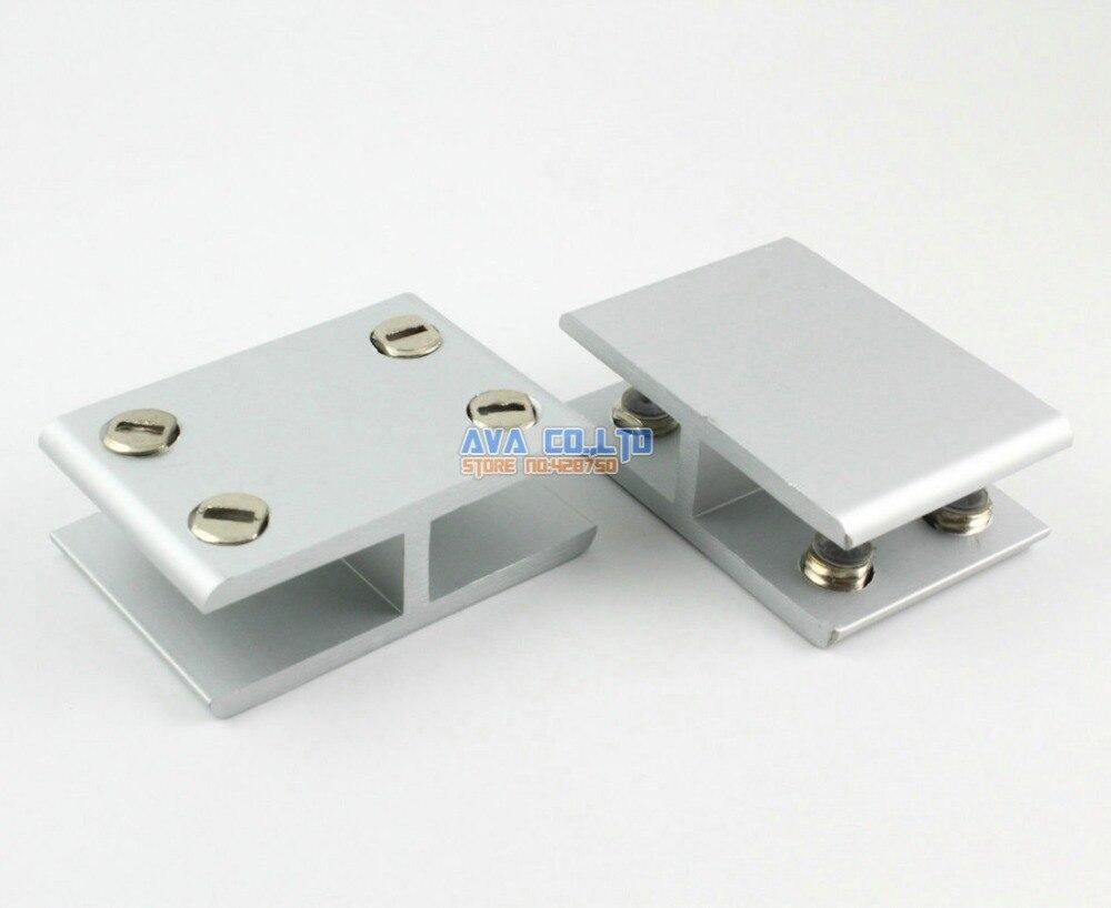 2 pieces 180 degree glass shelf clamp clip bracket shelf support rh aliexpress com clips for glass shelving clips for glass shelving