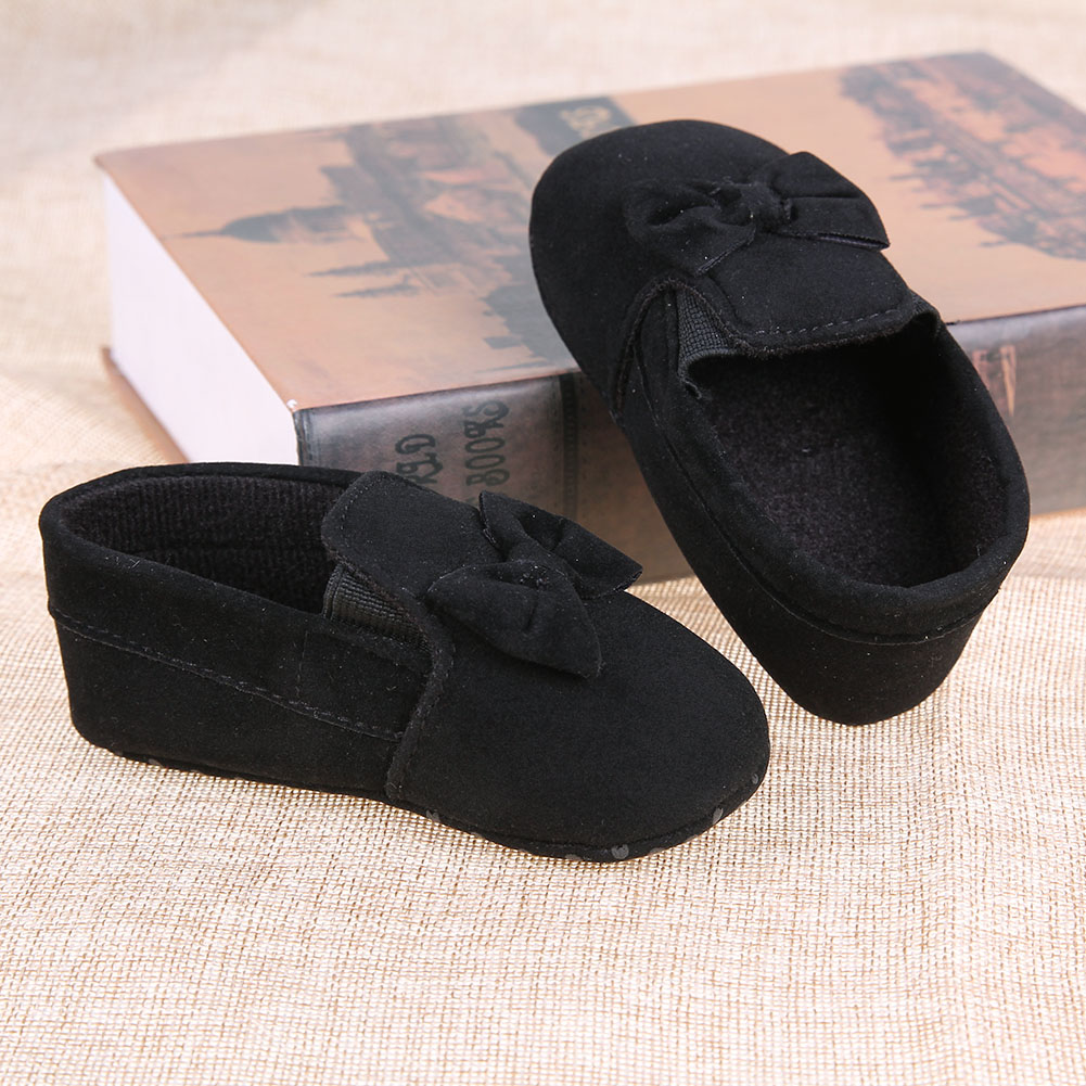 Newborns Baby Shoes Elastic Bow Soft Soled Moccasins Butterfly-knot Prewalker Crib Breathable Toddler Baby Girl Shoes