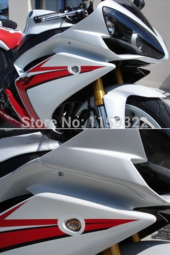 UNDEFINED Motorcycle Smoke Turn Signals indicators Lights Flush Mount LED Lamp For YAMAHA YZF R1 R6 R6S YZF-R1 2003-2014