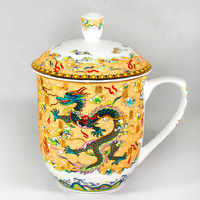 Dragon and Phoenix cup tea cup 850ml Bone China porcelain teacup ceramic teaset High-capacity kettle
