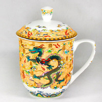 Dragon and Phoenix cup tea cup 850ml Bone China porcelain teacup ceramic teaset High capacity kettle