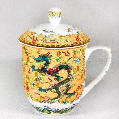 Taza de té dragón y vaso Fénix 850ml hueso porcelana taza de té cerámica tetera de alta capacidad Copa Menstrual de silicona de grado médico, copa Menstrual de silicona para mujer, copa de vagina con Coletor Menstrual 1 Uds.