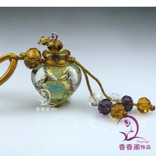 2 шт Духи из муранского стекла ожерелье s, ароматические флаконы, стеклянные подвески для духов, парфюмерное ожерелье флакон