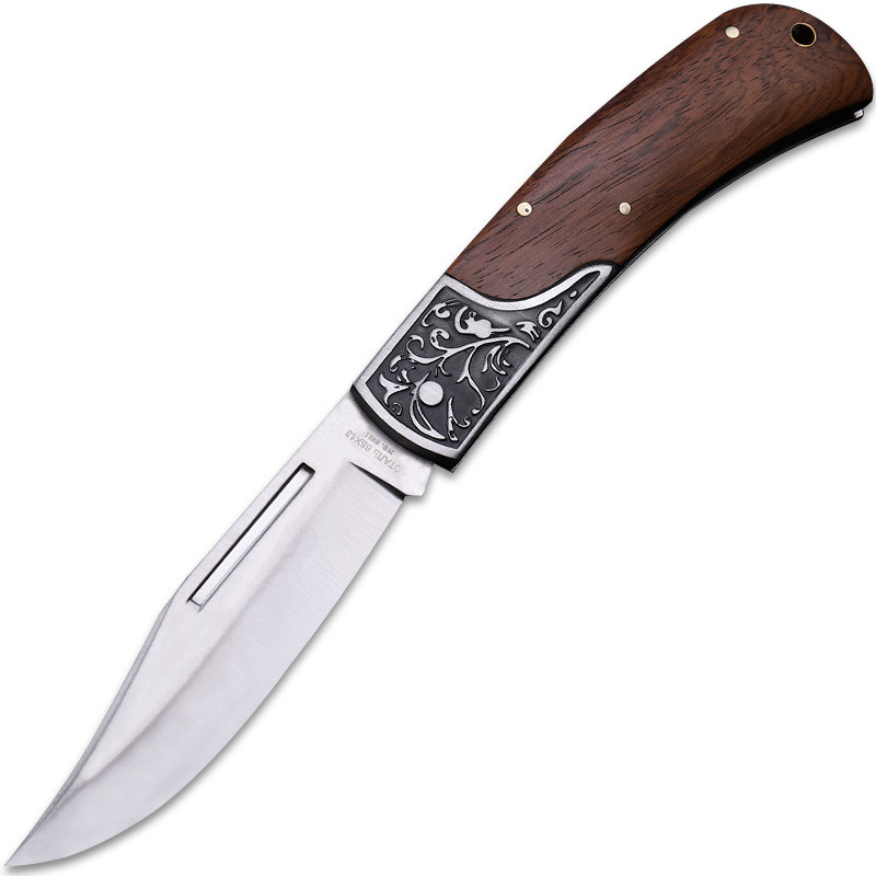 Купить с кэшбэком 2020 New Free Shipping High Hardness Wood Handle Tactical Folding Knife Survival Outdoor Camping Hunting Fruit Knives EDC Tools