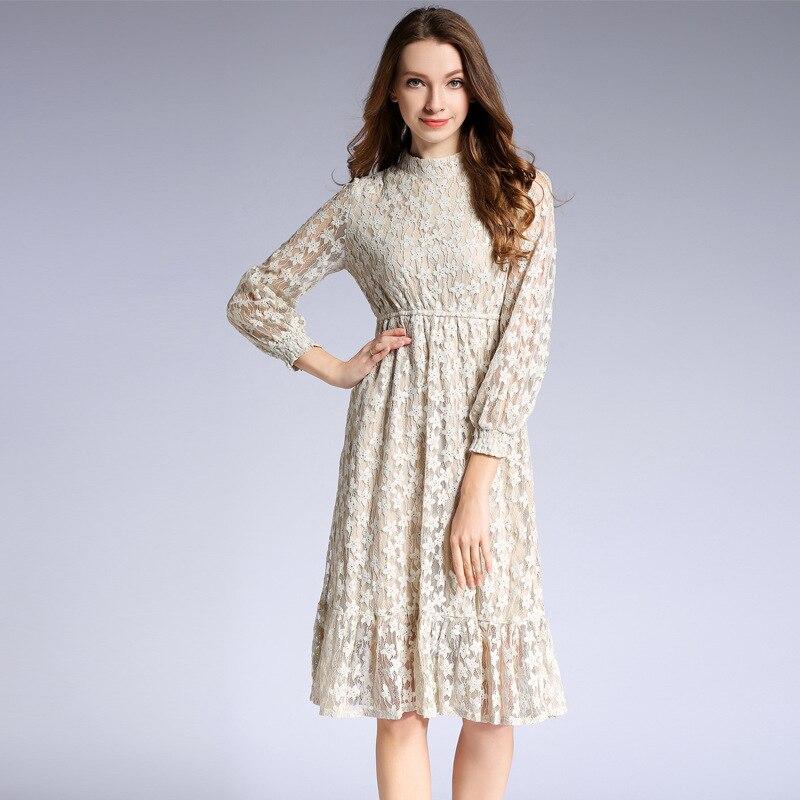 Haute qualité 2019 robe Sexy célébrité dentelle lanterne manches femmes plein volants O cou boîte de nuit corps con robes de fête en gros