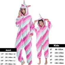 Kigurumi Unicorn Kids Women Pajamas Unisex Couples Onepiece Cartoon Cosplay Costume Animal Onesie Pyjamas Adult Girls Sleepwear