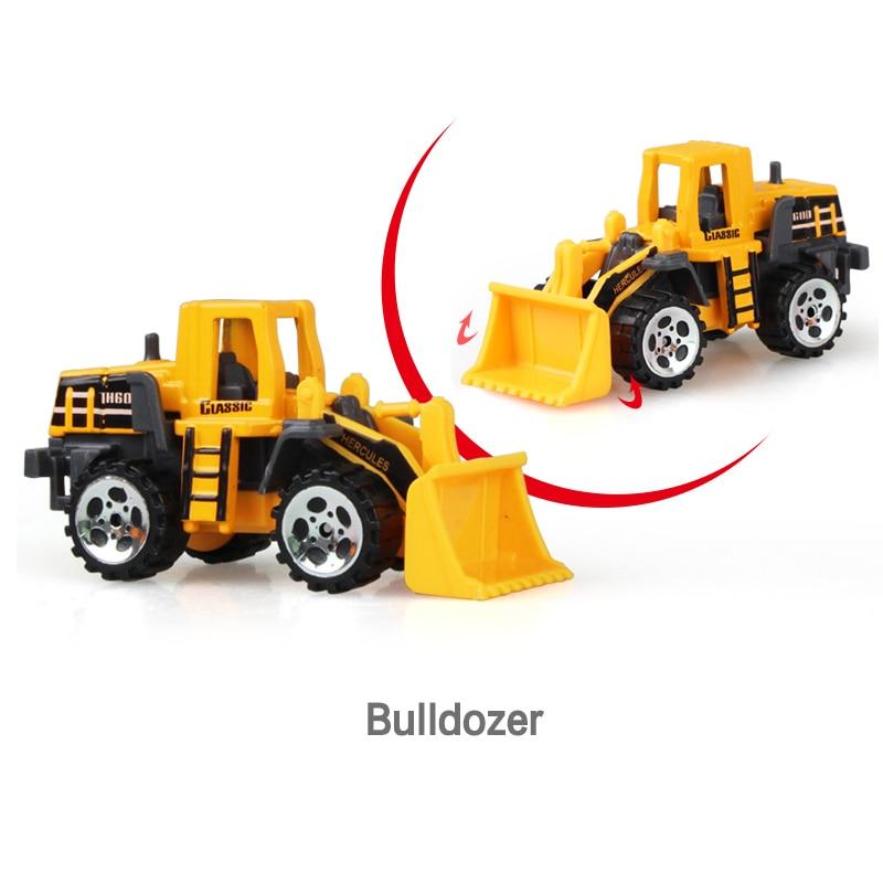 Литая под давлением сельскохозяйственная техника мини-модель автомобиля Инженерная модель автомобиля трактор инженерный автомобиль трактор игрушки модель для детей Рождественский подарок - Цвет: Bulldozer