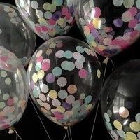 100 قطع نفخ multicolor النثار حفل زفاف الديكور بالون متمنيا الفوانيس عيد بالونات الهواء شفافة