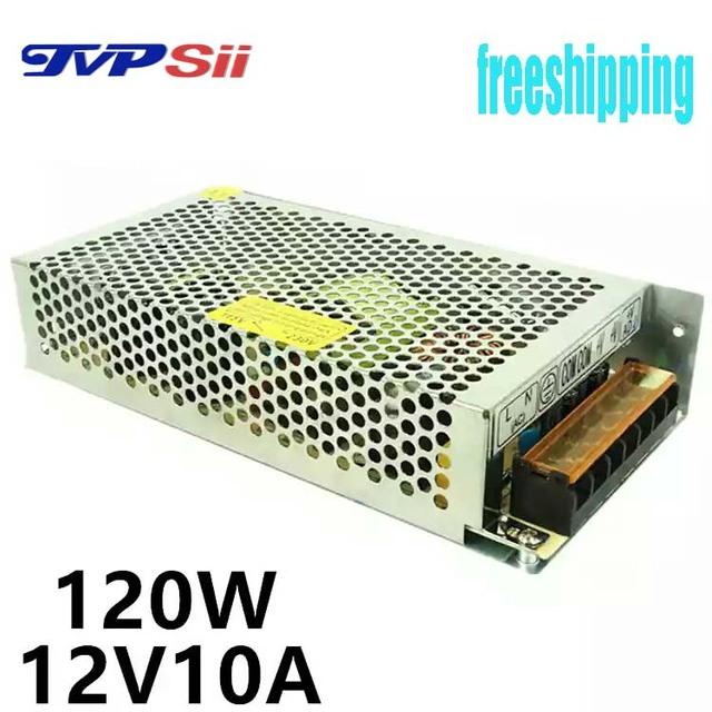 Saída de entrada AC110V-240V DC12V 10A 120 W comutação adaptador de alimentação de CCTV acessórios e para luz Conduzida da tira