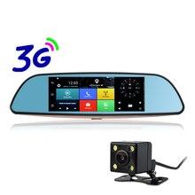 Otstrive 7 polegada 3G do GPS do Android 5.0 Do Caminhão Do Carro GPS Bluetooth Wi-fi Retrovisor de Lente Dupla 1 GB de RAM Quad Core FHD1080P DVR Espelho GPS