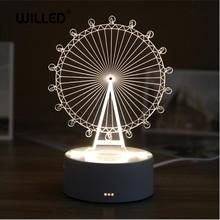 3D LED Table Lamp Resin Night Light Cute Bear LOVE Castle ABS+Resin Multi-design Gift for Children Bedroom