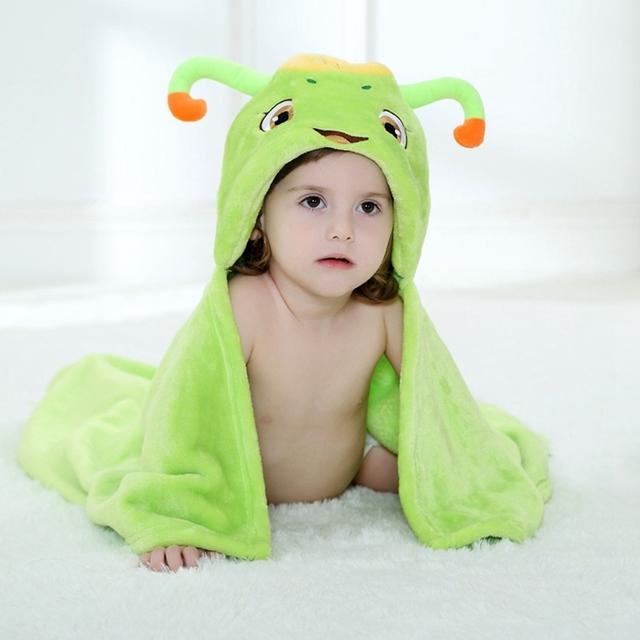 Animal Dos Desenhos Animados Cosplay adereços Foto do bebê Receber Cobertor de Flanela Verde Bonito Projeto bicho Bebê Recém-nascido Banho Roupão De Dormir