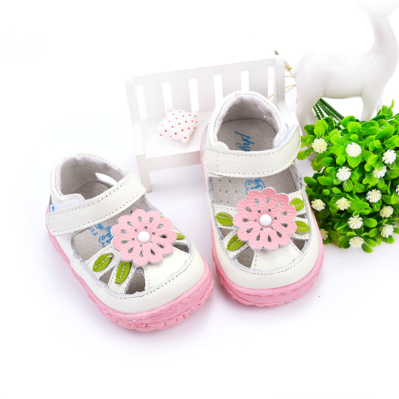 Free shipping genuine cow leather infant toddler sandals 0