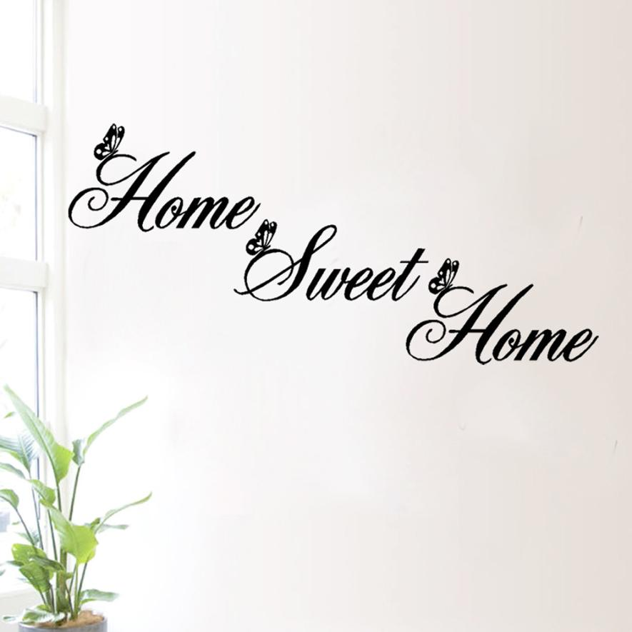 2017 Simple Words Home Sweet Home Wall Stickers DIY Removable Art Mural  Vinyl Bedroom Living Room Wall Ation Decals In Wall Stickers From Home U0026  Garden On ...