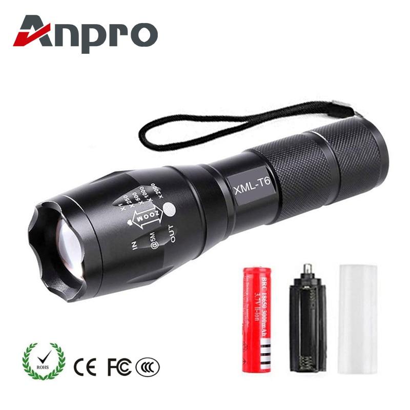LED Brillante Linterna Super Bright 6000 Lúmenes con Zoom Requiere Pila Aa
