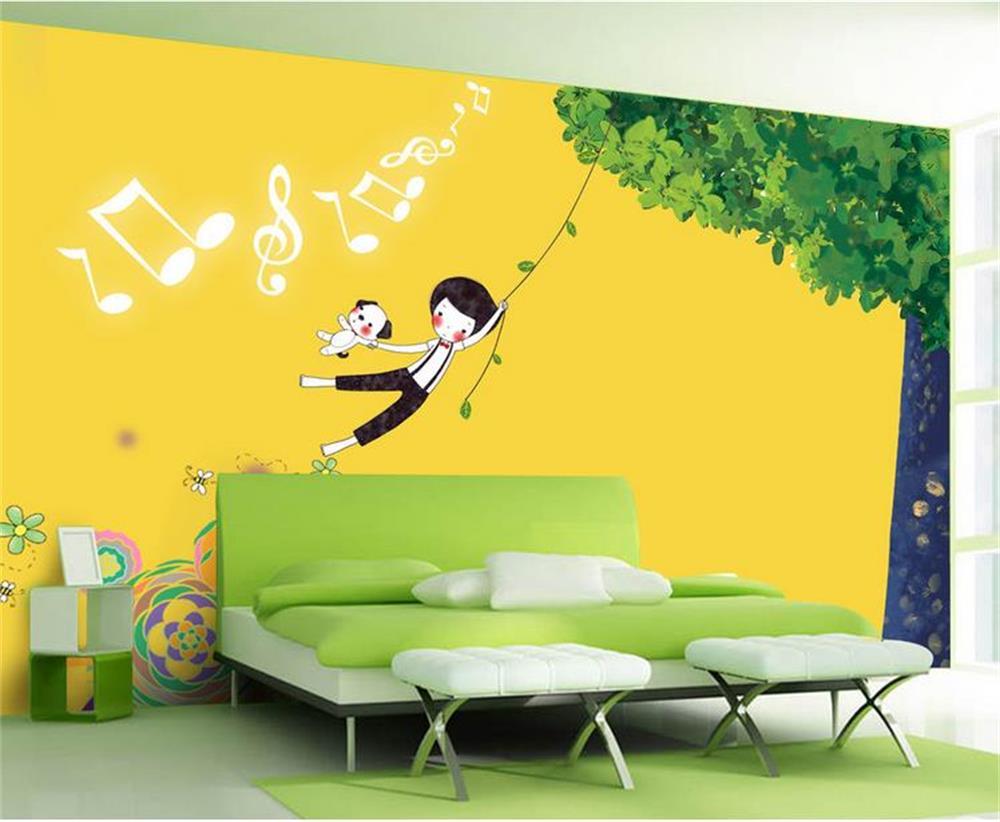 3d wallpaper custom photo wall paper kids 39 room children 39 s for Swing for kids room