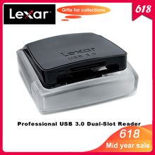 100% Original Lexar Professional USB 3.0 CompactFlash card reader SD/SDXC/SDHC Dual-Slot Reader400 speed up to 500MB/s