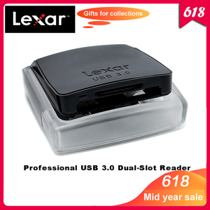 Image 1 - 100% Original Lexar Professional USB 3.0 CompactFlash card reader SD/SDXC/SDHC Dual Slot Reader400 speed up to 500MB/s
